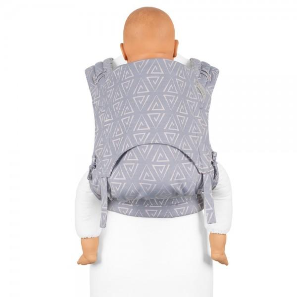 Fidella FlyClick Plus - Half-Buckle Babytrage - Paperclips - aschblau - Toddler