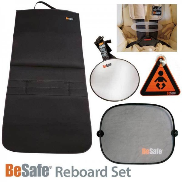 BeSafe Reboard-Set (Trittschutz, Spiegel, Sonnenschutz, Gurtsammler)