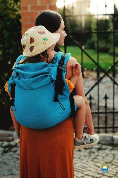Little Frog XL Toddler Carrier - Petrol Herringbone