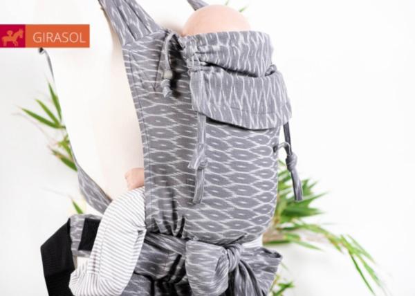 Girasol Mysol Tragehilfe Wilderness Grey - mit Schnallenhüftgurt