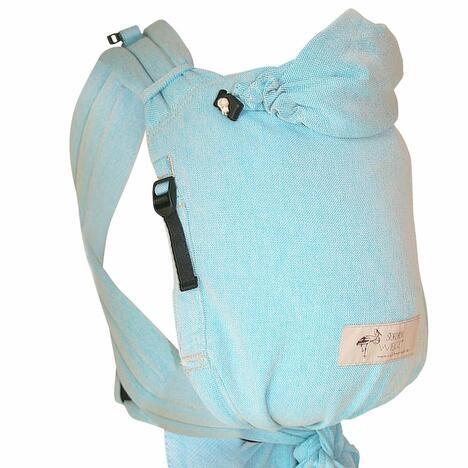 Storchenwiege BabyCarrier Aqua - Version mit Hüftgurtschnalle