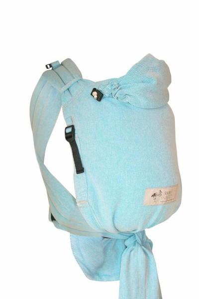 Storchenwiege BabyCarrier Slim Aqua - Version mit Hüftgurt zum Binden