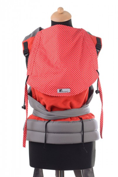 Huckepack Mei Tai Medium-rote Punkte Gr. 68 bis 98 (von Baby-Roo) SALE