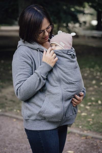 LIMAS Schwangerschafts- und Tragesweatjacke Unisex – Anthrazit