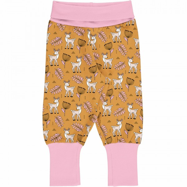 Maxomorra Pants Rib Poppy Deer