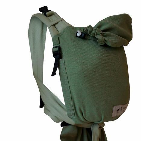 Storchenwiege BabyCarrier Grün - Version mit Hüftgurtschnalle