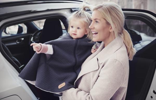 Voksi Poncho Dark Grey Star für Kindersitze